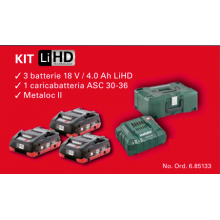 KIT METABO 18V / 4.0 Ah LiHD