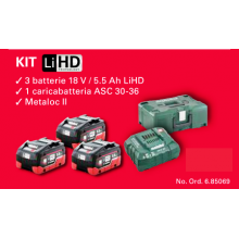 KIT METABO 18V / 5.5 Ah LiHD