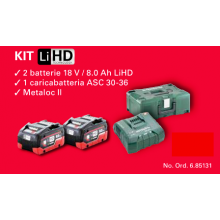 KIT METABO 18V / 8.0 Ah LiHD