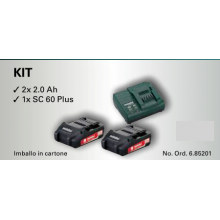 KIT METABO 18V / 2.0 Ah