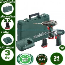 COMBO KIT METABO AVVITATORE POWERMAXX BS BASIC + AVVITATORE MASSA BATTENTE POWERMAXX SSD